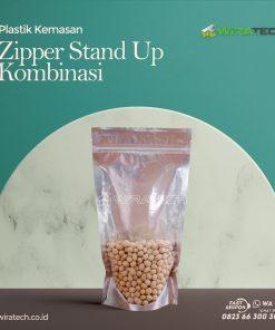 kombinasi stand up zipper cover