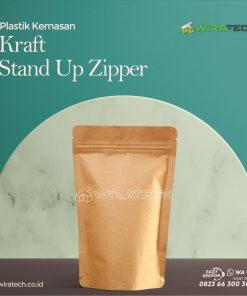 kraft stand up zipper cover